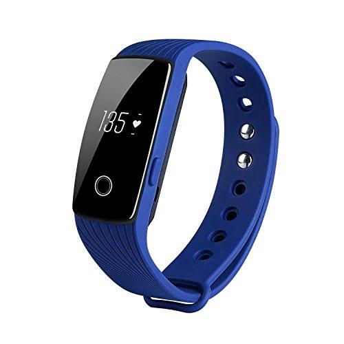 Produktbild KOBWA Fitness-Tracker-Herzfrequenz Fitnessarmband- Pulsuhr Aktivitätstracker Wasserdicht- Smart Bracelet - Smartwatch für Android Smartphone und IPhone IOS, Schrittzähler,  Kalorienzähler,  Schlaf-Monitor, Push-Message und Anrufer - ID Benachrichtigung