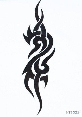 faux tatouages étanche unisexe totem noir