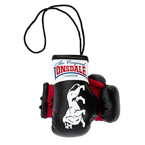Lonsdale Mini Boxhandschuhe, schwarz/rot