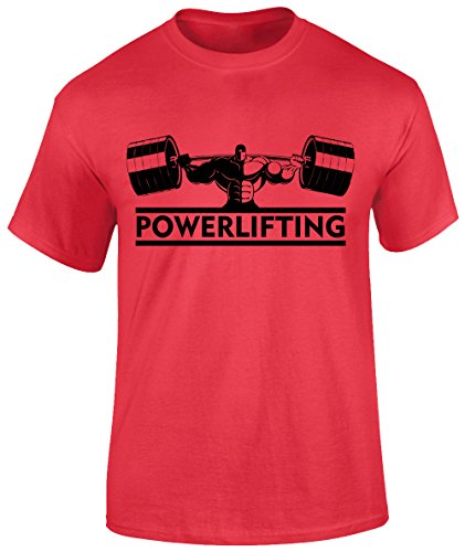 Powerlifting - Camiseta de Manga Corta para Hombre, diseño de Gimnasi