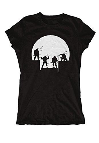 T Ninja Shirt Damen Turtles (Turtles Moon Girlie (M,)