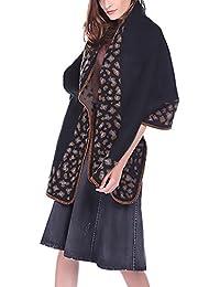 BIRAN Femme Echarpe Chale Elégante Vintage Ethnique Imprimé Fashion Simple  Décontracté Automne Hiver Chaude Souple Écharpe 4b0d65015520