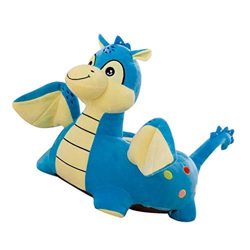F Fityle Cartoon Animal Kids Seat Funda De Sofá Silla De Bebé Funda De Reemplazo De Bolsa De Frijoles - Fly Dragon (Azul), Individual