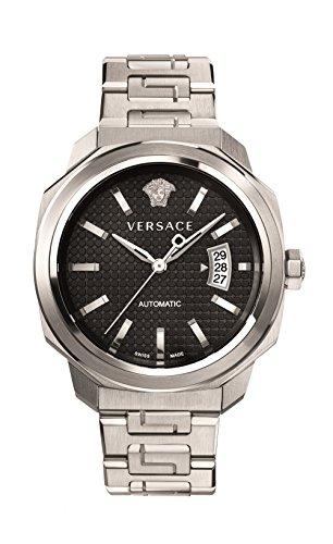 Versace pour homme 'Dylos' automatique en acier inoxydable montre de style décontracté, couleur: Les LED Offrent (modèle: Vag020016)