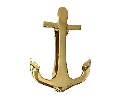 zeitzone Türklopfer Anker Messing Maritim H 14,5cm (Anker Messing Türklopfer)