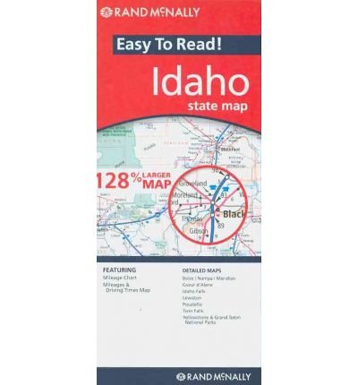 (Rand McNally Easy to Read! Idaho State Map) By Rand McNally (Author) unknownbinding on 01-Mar-2010 Idaho State Map