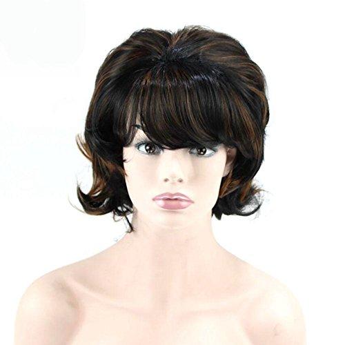 Dayyn donne fibra chimica parrucca naturale confortevole capelli corti e ricci set di parrucche