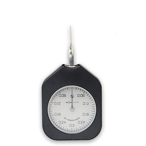 cgoldenwall seitliche Tension Meter-Dynamometer Doppel Nadel Tensiometer Metrisches Newton Tension Meter Force Messung Newton Einheit System Doppel Nadel mit Peak Hold-Funktion (Elektronisches Dynamometer)