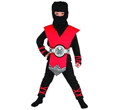 Ninja Schatten Kostüm - Prezer Roter Ninja Schatten Kinderkostüm 130/140