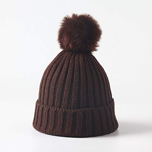 Huichao Bonnet Enfant 5 Couleurs, Bonnet en Tricot d'automne et d'hiver, Bonnet Chaud,Brown