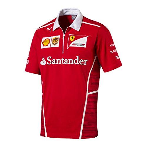 Ferrari Kinder Team Polo Shirt, Rosso Corsa (Team-grafik Race)