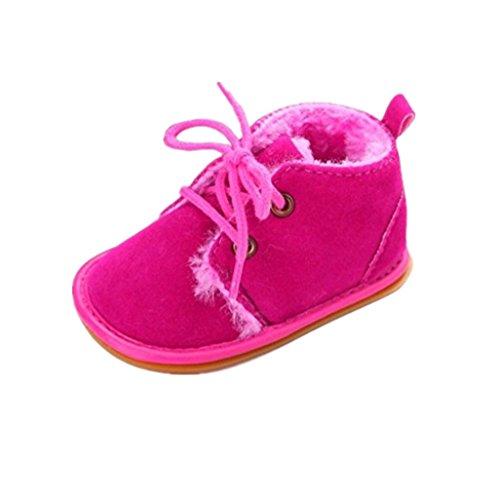 Baby Winter Warme Schuhe, Auxma Kleinkind Säuglings Schnee Stiefel Schuhe Prewalker Krippe Schuhe Krabbelschuhe (11(0-6M), Braun) Hot Pink