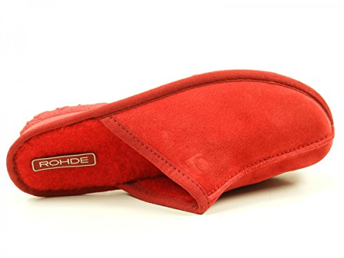 Rohde 2272, Chaussons Mules Femme Rouge