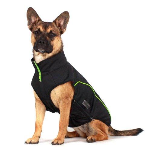 Wolters Softshell- Jacke Basic schwarz/lime XS - XL Hundejacken günstig Hundemantel Hundejacke