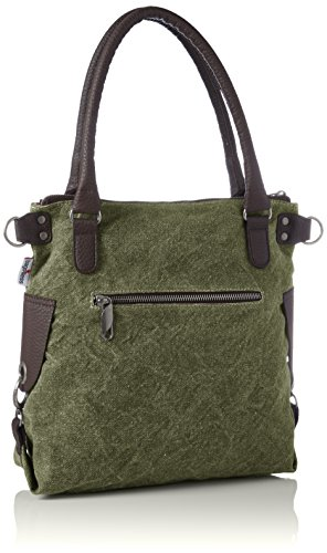 Bags4Less - Anker-mini, Borse a spalla Donna Verde (Washed-grün)