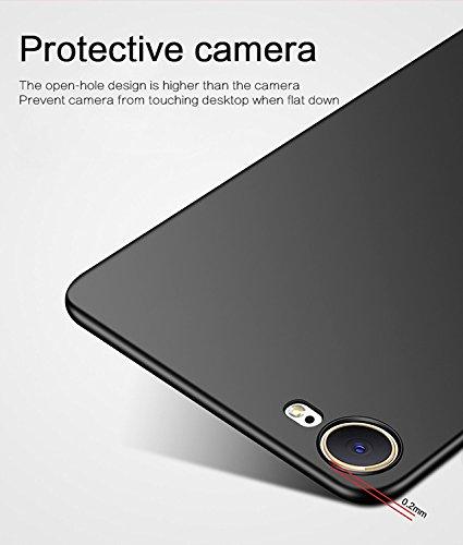 Meimeiwu Alta Qualità Ultra Sottile Leggera [Morbido tocco] Antiscivolo Duro PC Shell Slim Custodia Per iPhone 8 - Oro Nero