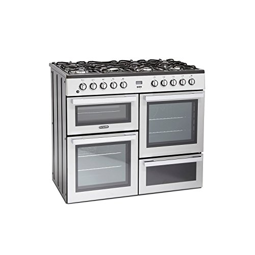 41sQbTKT%2BvL. SS500  - Montpellier MDF100S 100cm Dual Fuel Range Cooker - Silver