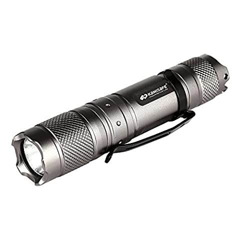 KM MN10 Flashlight with Cree XM-L Q5 LED 225 Lumen LED Flashlight 5 Mode Light with Tail Button Switch in