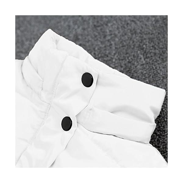 Mitlfuny Invierno Plumífero Acolchado Chaqueta Niñas Niños Bebé Algodón Abrigo con Capucha Cálido Manga Larga Color… 3