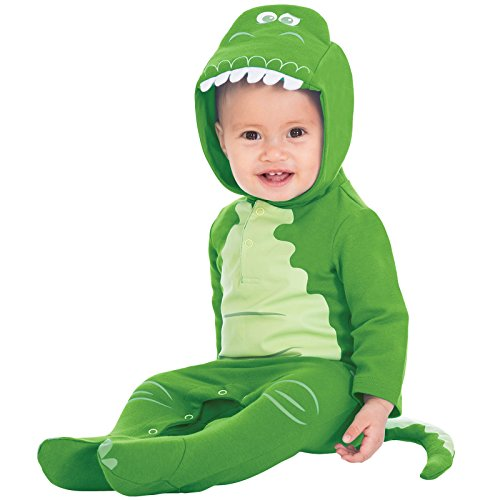 Amscan Kleid bis dcrex-rj00Disney Rex Kapuze Strampler 0-3Monate Kleid bis, Unisex Kinder, nicht Solides Farbe, - Disney Rex Kostüm