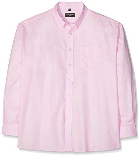 Russell Collection! Pflegeleichtes Langarm Oxford Hemd auch in Übergrößen M / 39/40 / 15.5,Classic Pink