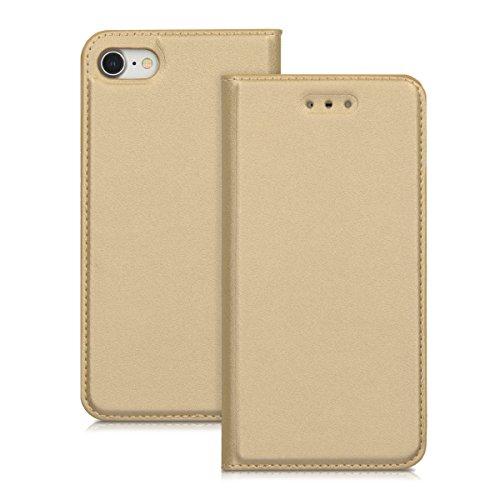 kwmobile Étui rabattable en similicuir pour Apple iPhone 7 / 8 - Full Cover Case rabatable en or rose .doré