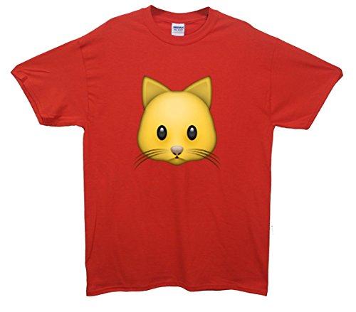 Cat Emoji T-Shirt Rot