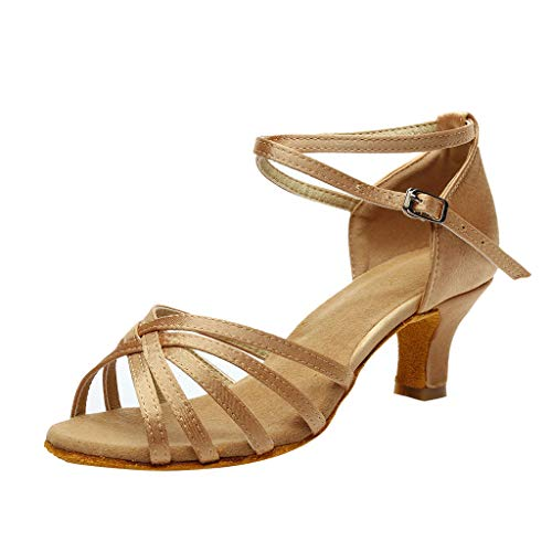 Preisvergleich Produktbild Frauen Sandalen für Frauen Wedges Flache Plateau liusdh, Women's Color Fashion Rumba Waltz Prom Ballroom Latin Salsa Dance Shoes Sandals(KH, 41)