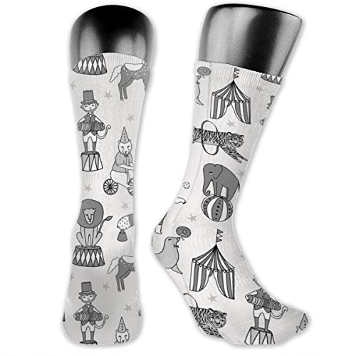 Circus Kostüm Lion - MZZhuBao Circus Circus Animals Lion Tiger Elephant Casual Athletic Crew Socks Running Gym Compression Foot