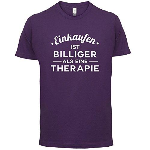 Einkaufen ist billiger als eine Therapie - Herren T-Shirt - 13 Farben Lila