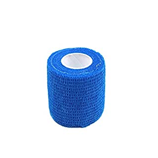 XIYAO Pet Injury Protection Bandage Non-woven Self-adhesive Foot Bandage for Injuried Pets Mix Color 2.5cm/5cm/7.5cm/10cm