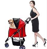 GUOGUO Kleine Haustiere Portable Faltwagen mit Haustieren, Um Einfach Zu Erleichtern