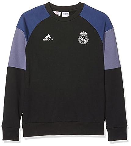 adidas REAL SWT TOP Y -Sweatshirt - Ligne Real Madrid CF pour Garçon, Noir / Violet - 164, Taille: