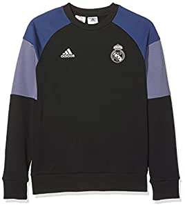 adidas REAL SWT TOP Y - Sweatshirt - Real Madrid CF for Boys, 176, Black/Purple