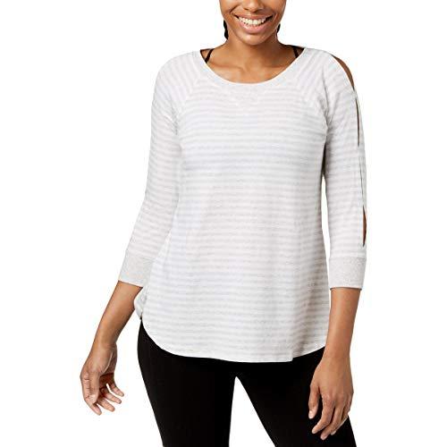 Calvin Klein Performance Damen Pullover, schulterfrei, Schlüsselloch - weiß - Groß