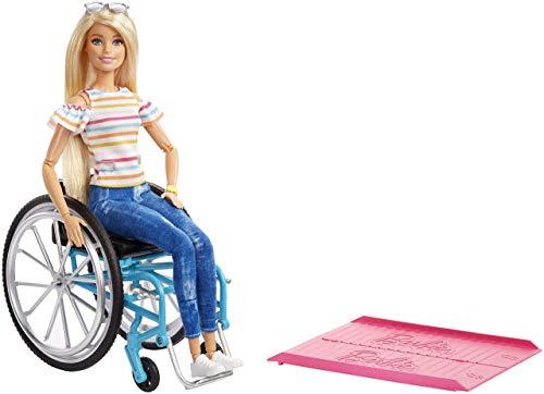 Barbie GGL22 - Rollstuhl und Puppe, blond