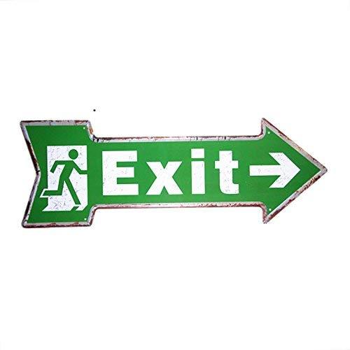 NGLJ DL-This Way Exit Arrow Irregular Sign Retro Shop mall Wall Sticker Pub Cafe Dormitory Decor