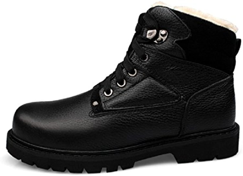 Herren Winter Mode Martin Stiefel Warm halten Stiefel Dicker Boden Schuhe erhöhen Rutschfest Wanderschuhe Werkzeugschuhe