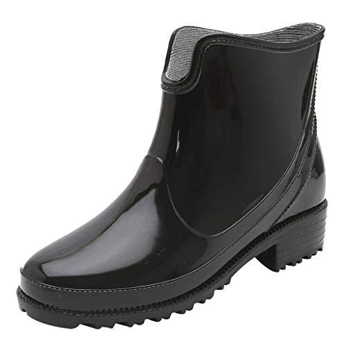 Makefortune Halbhohe Gummistiefel mit kurzem Bein Einfacheres An- und Ausziehen Gut für eine breitere Wadenform rutschfeste Regenschneeschuhe Chelsea-Schuhe