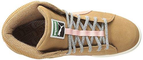 Puma Classique Suede Fashion Sneaker Chipmunk-Coral Cloud Pink
