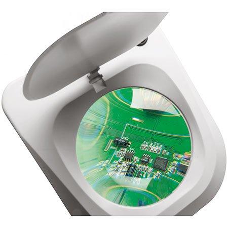 12 Dioptrien FleißIg Tisch-lupenleuchte Lupenlampe Netzanschluss Schwarz Linse: 3