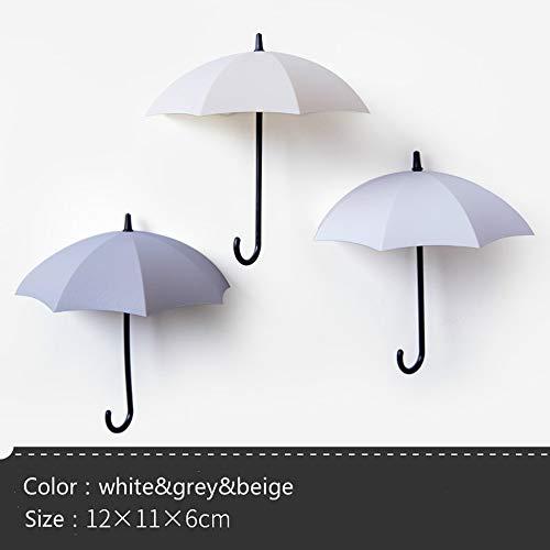 WillBer 3 Teile/Satz Regenschirm Haken Kreatives Design Nette Regenschirm Wandhalter Wanddekor Kleidung Mantel Hut Kleiderbügel für Zuhause/Büro -