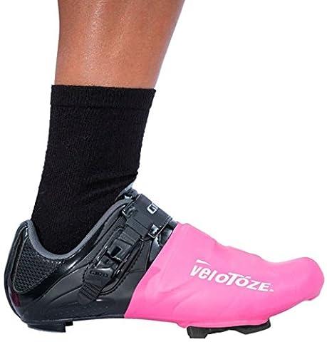 veloToze Aero Road Cycling Shoe Toe Covers Pink