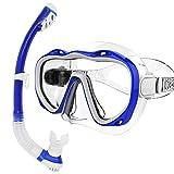 Face Snorkeling Mask Set Volle Trockene Atemröhre Tauchbrille Toughened Glass Diving Underwater...