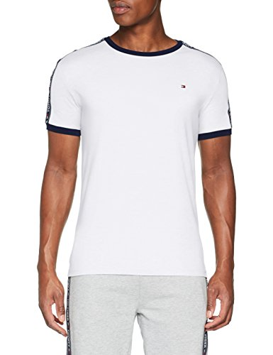 Tommy Hilfiger RN tee SS Camiseta, Blanco (White 100), Small para Hombre
