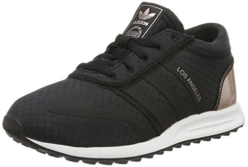 adidas Damen Los Angeles Sneakers, Schwarz (Core Black/Core Black/Vapour Grey Met.), 37 1/3 EU