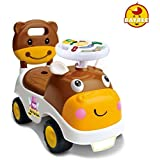 GoodLuck Baybee - Kids Ride On Push Car Toy With Music For Babies Car Children Rider & Small Toy Toddlers Baby Toys | Suitable Toy Car Kids For Boys & Girls (1-2 Years)(Brown)