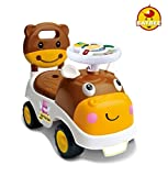 GoodLuck Baybee Ride-on Push Car Toy with Music for Babies, 1-2 Years (Brown)