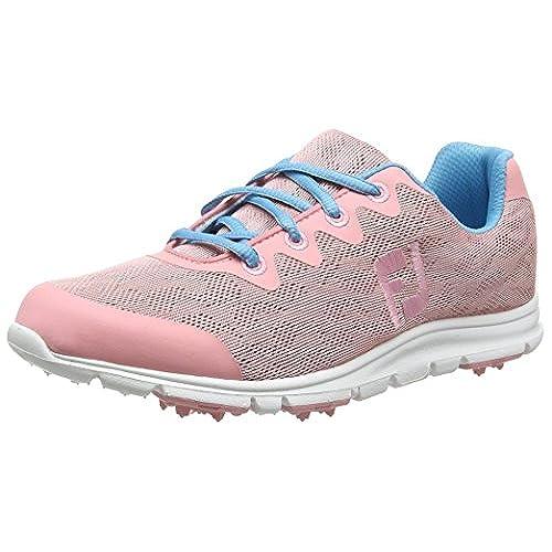 Footjoy Damen Enjoy Golfschuhe, Pink (Pink/Aqua), 37 EU