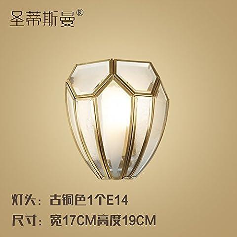 XiangMing Continental Cu tutti pubblicato luci da parete stile shell scala corridoio luci da parete con corridoio interno luci da parete , diametro iniziale 19 17 * Altezza